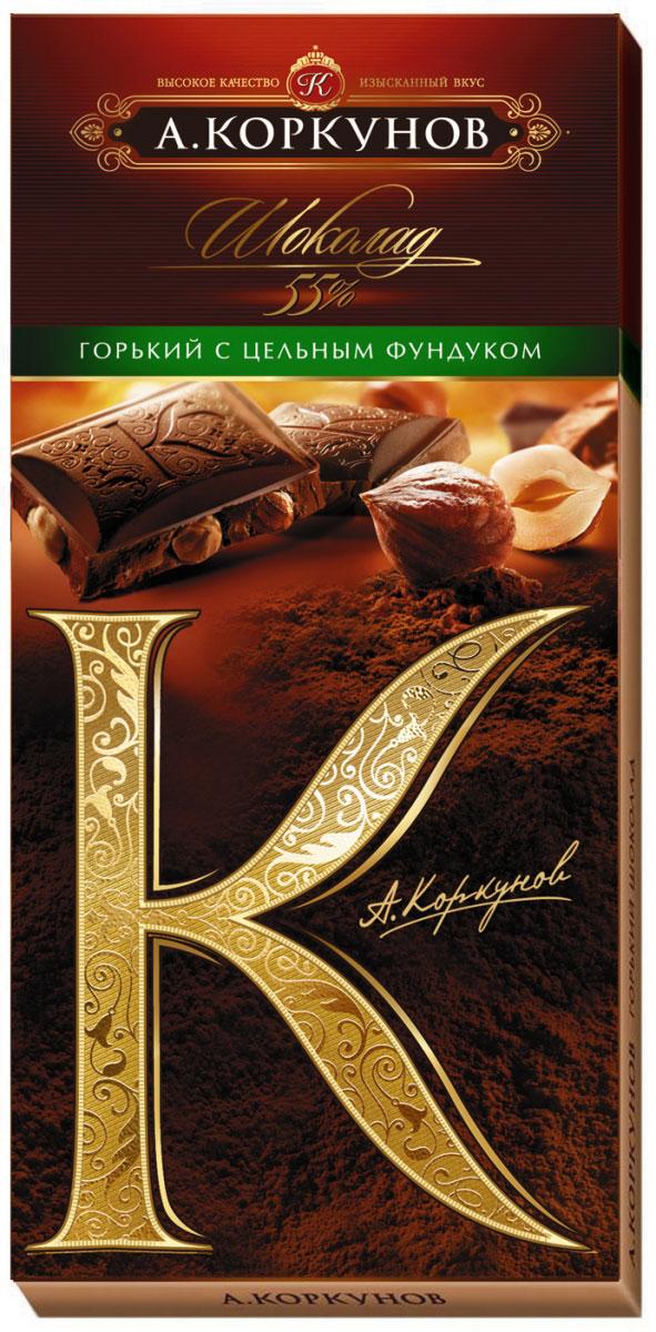 Коркунов горький шоколад с цельным фундуком, 90 г платья pf платья