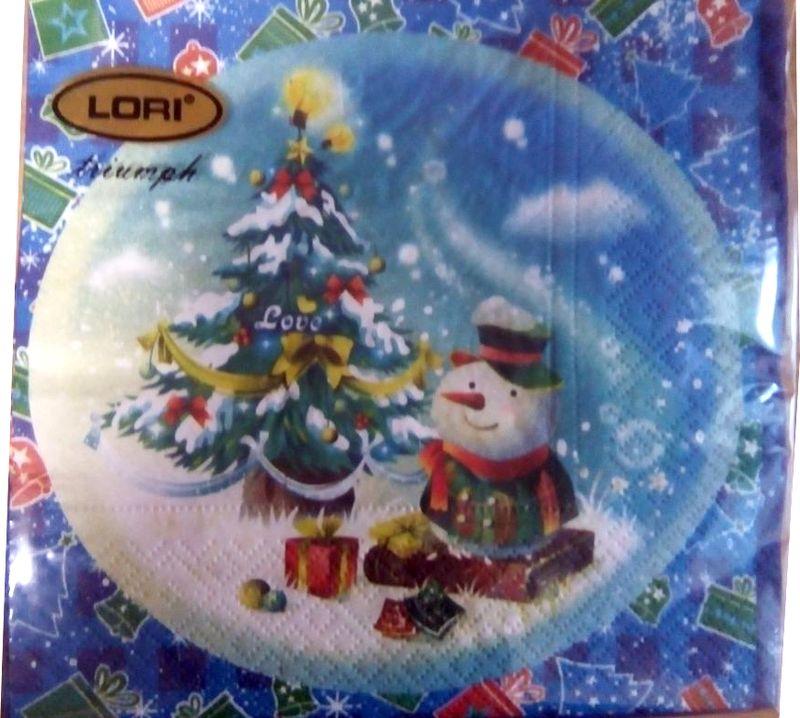 Салфетки бумажные Lori Triumph, трехслойные, цвет: мультиколор, 33 х 33 см, 20 шт. 5626256262Декоративные трехслойные салфетки Lori Triumph с ярким рисунком выполнены из 100% целлюлозы. Салфетки станут отличным дополнением новогоднего стола. Они отличаются необычной мягкостью, прочностью и оригинальностью. Размер салфеток в развернутом виде: 33 х 33 см.