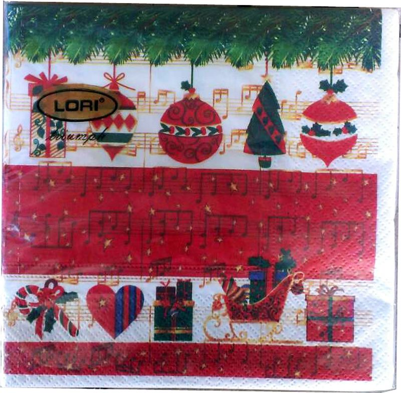 Салфетки бумажные Lori Triumph, трехслойные, цвет: мультиколор, 33 х 33 см, 20 шт. 5662556625Декоративные трехслойные салфетки Lori Triumph с ярким рисунком выполнены из 100% целлюлозы. Салфетки станут отличным дополнением новогоднего стола. Они отличаются необычной мягкостью, прочностью и оригинальностью. Размер салфеток в развернутом виде: 33 х 33 см.