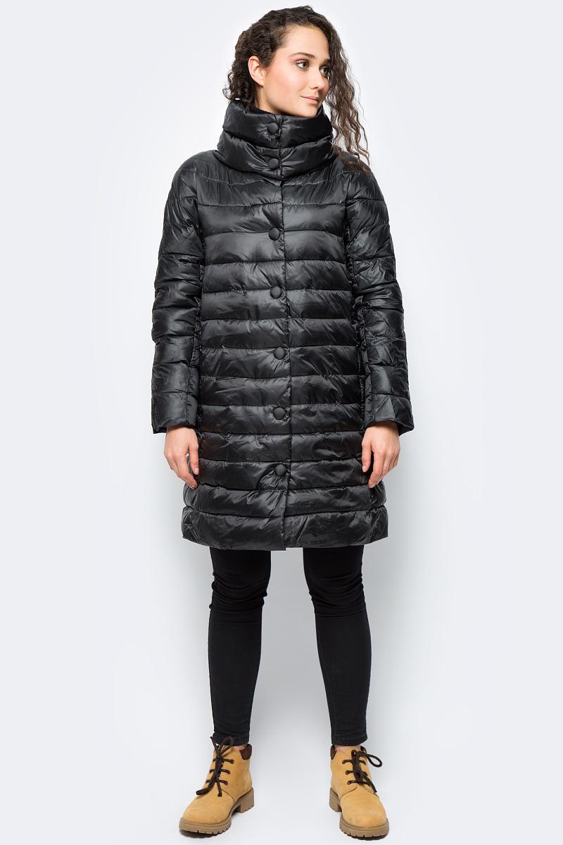 Куртка женская adL, цвет: черный. 15232183001_001. Размер XS (40/42)15232183001_001Утепленная куртка adL выполнена из 100% полиэстера на утеплителе из синтепона. Модель с длинными рукавами и воротником-стойкой застегивается на молнию с ветрозащитной планкой на кнопках. Спереди куртка дополнена двумя прорезными карманами на застежках-молниях.