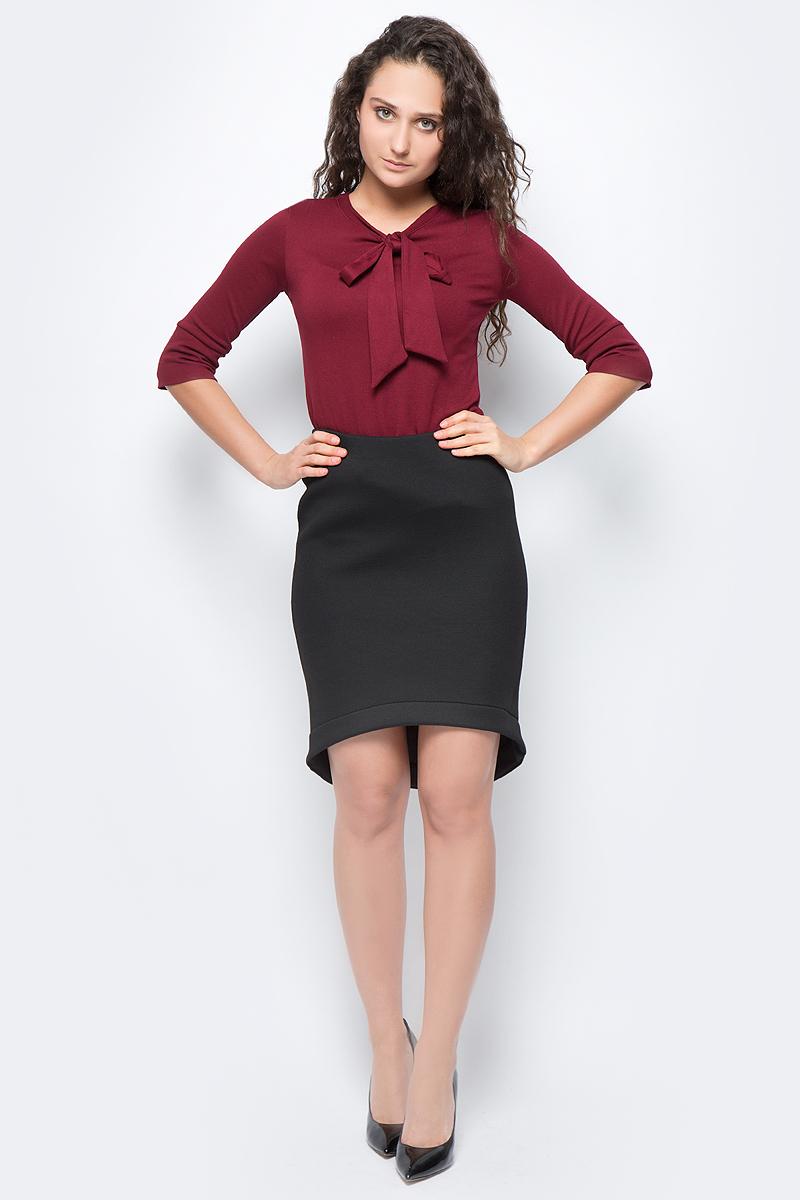 Юбка женская adL, цвет: черный. 12733175000_001. Размер S (42/44)12733175000_001Стильная юбка, выполненная из комбинированного эластичного материала, отлично дополнит ваш гардероб. Модель со стандартной посадкой в поясе дополнена эластичной резинкой.