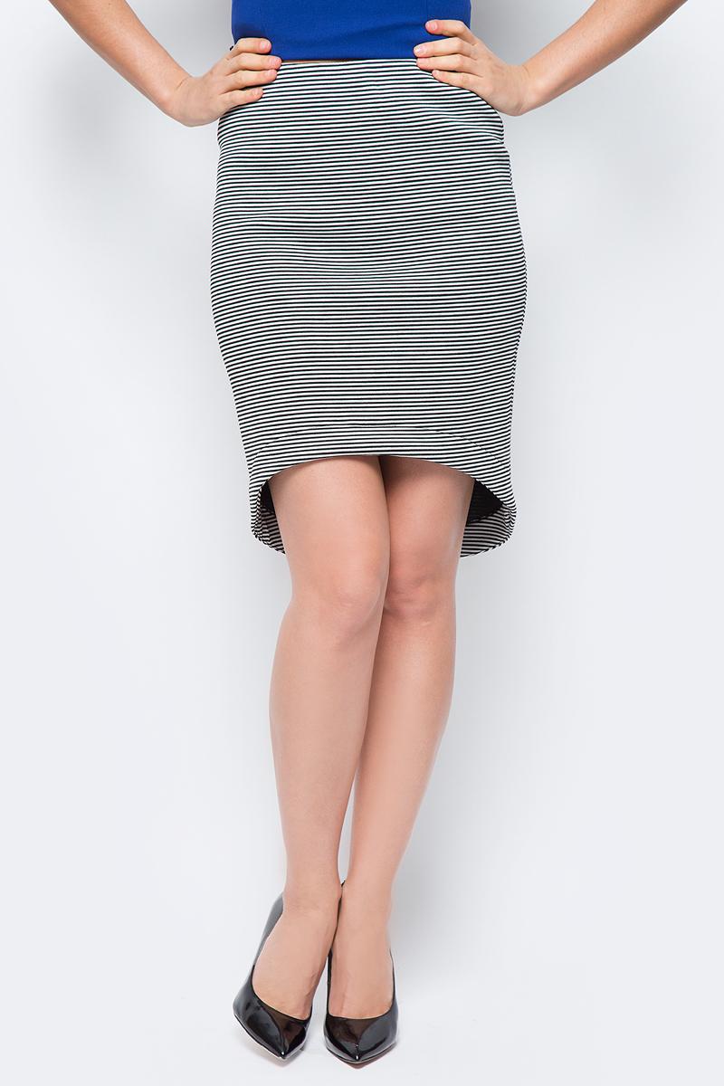 Юбка женская adL, цвет: черный, белый. 12733175000_101. Размер M (44/46)12733175000_101Стильная юбка, выполненная из комбинированного эластичного материала, отлично дополнит ваш гардероб. Модель со стандартной посадкой в поясе дополнена эластичной резинкой.