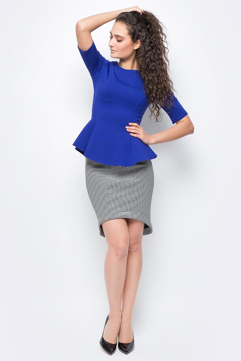 Юбка женская adL, цвет: черный, белый. 12733175000_101. Размер XS (40/42)12733175000_101Стильная юбка, выполненная из комбинированного эластичного материала, отлично дополнит ваш гардероб. Модель со стандартной посадкой в поясе дополнена эластичной резинкой.