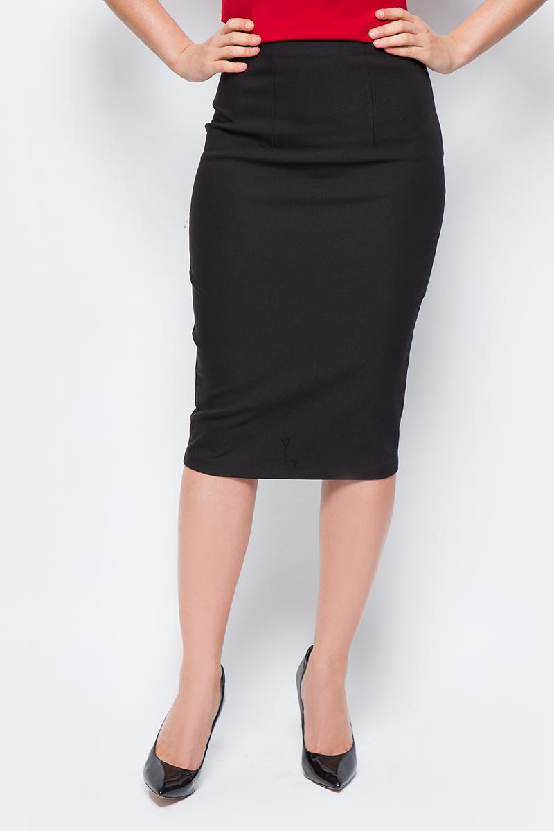 Юбка женская adL, цвет: черный. 12723390006_001. Размер S (42/44)12723390006_001Стильная юбка-карандаш, выполненная из комбинированного материала, отлично дополнит ваш образ. Модельдополнена застежкой-молнией.