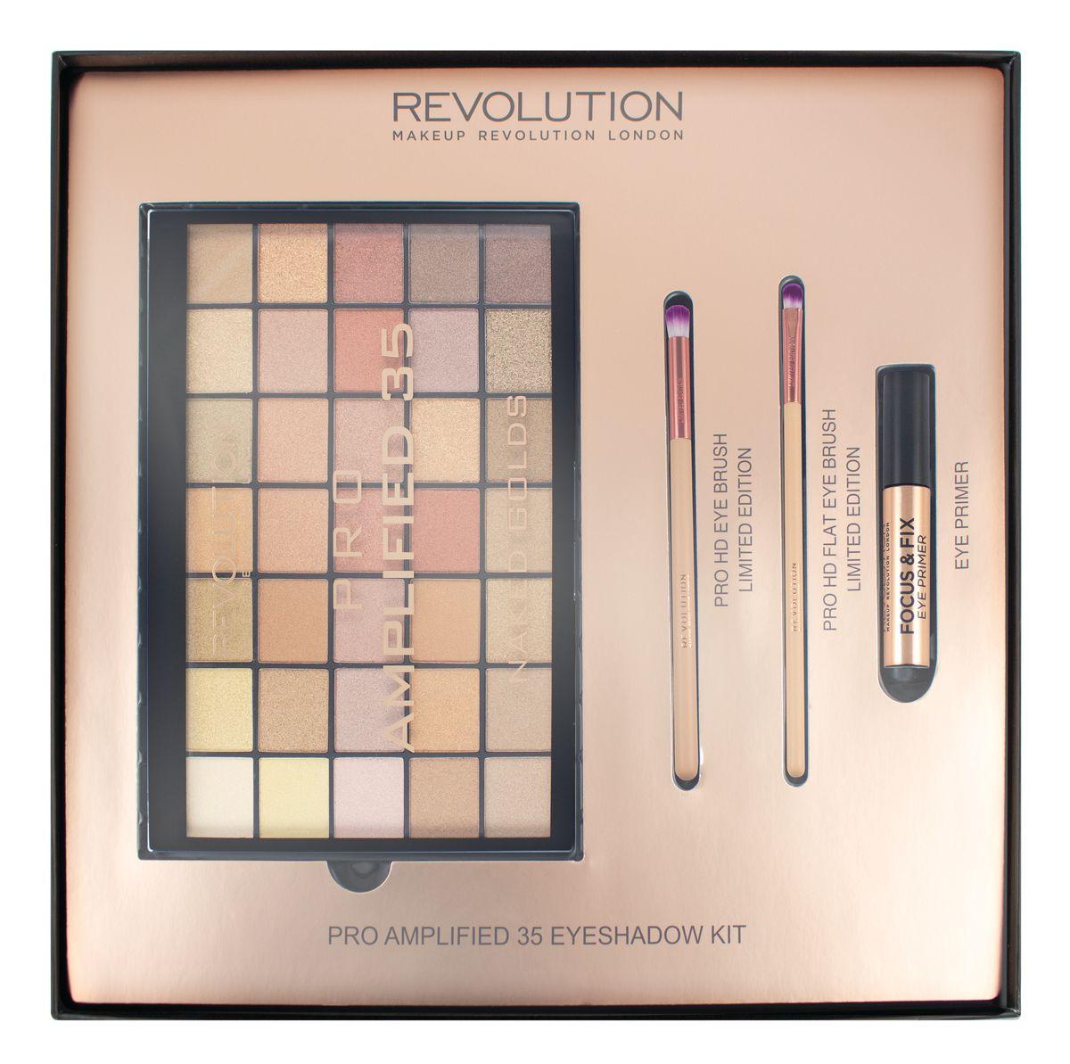 Makeup Revolution Набор для макияжа Amplified 35 Eyeshadow Kit sephora vintage filter палетка теней vintage filter палетка теней