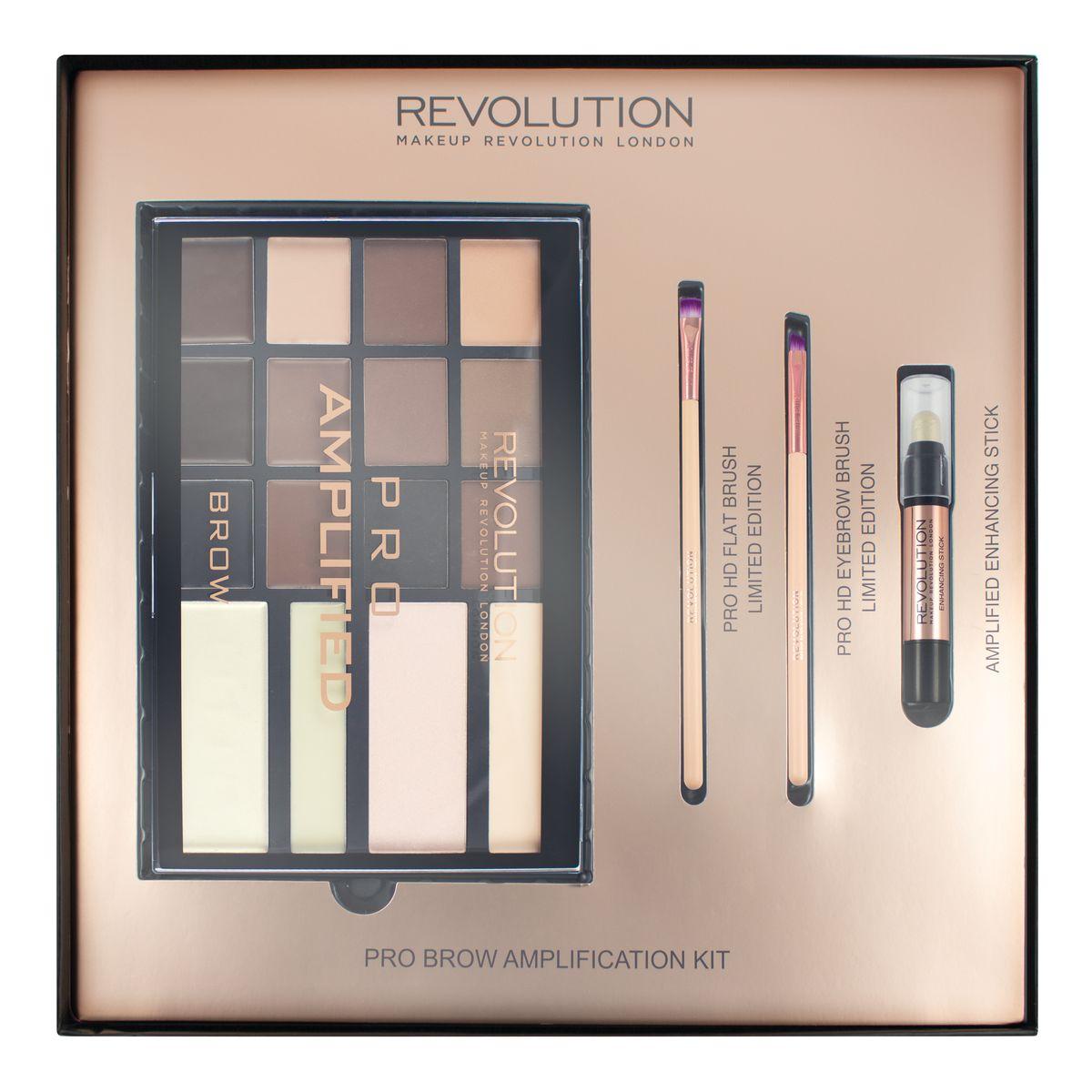 Makeup Revolution Набор для макияжа Brow Amplification кисть для коррекции бровей eye brow brush seventeen