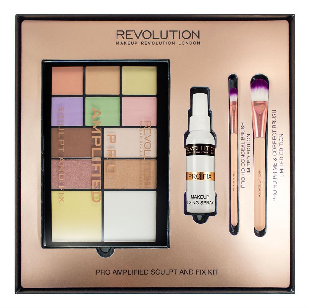 Makeup Revolution Набор для макияжа Amplified Sculpt & Fix набор для макияжа лица precision pro brush large oval face makeup revolution