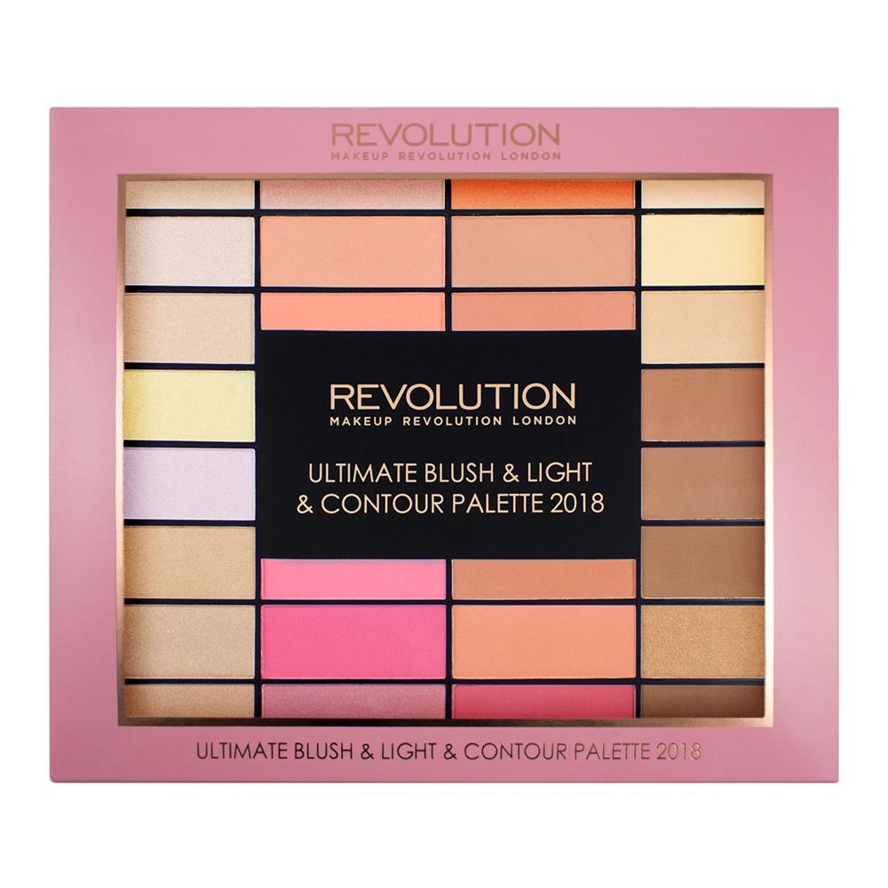 Makeup Revolution Набор для макияжа Ultimate Blush, Light & Contour Palette 201830960132 оттенка румян, хайлайтеров и средств для контуринга в одной палетке! Настоящий «must-have» для визажистов и бьютиголиков!