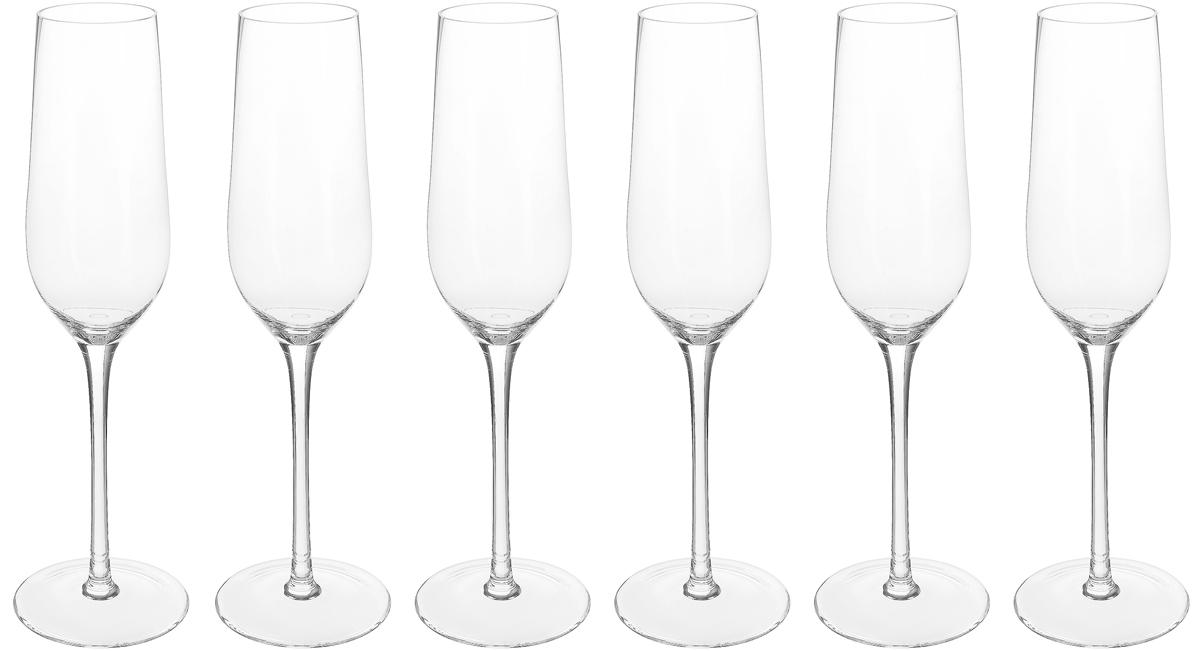 Бокал Strotskis Rossi, для шампанского, 230 мл, 6 шт