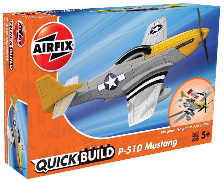 Airfix Пластиковый конструктор QUICKBUILD P-51D Mustang cymodel mustang p 51d 46 cy8011a