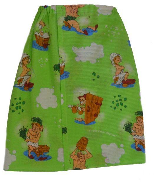 Килт для бани и сауны Ecology Sauna, мужской, цвет: зеленый, 150 х 75 см