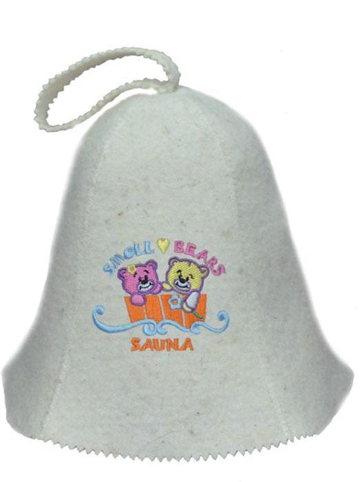 Шапка для бани и сауны детский Ecology Sauna Мишки в кадушкеДЮН-К126-56Необходимый предмет в бане и сауне. Изготовлен из овечий шерсти. Защищает голову от перегрева и ожогов. Прекрасно впитывает влагу и пот. Сделает Ваше посещение парилки комфортным и безопасным. Колпак для сауны не только предохраняет от вредного воздействия, но и является модным аксессуаром. Может быть отличным подарком к празднику .