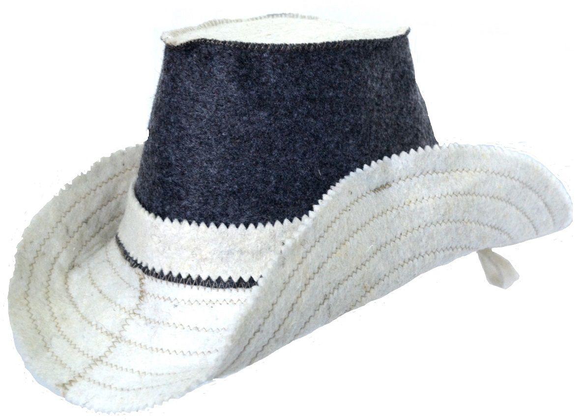 Шапка для бани и сауны Ecology Sauna КовбойДЮН-К145Необходимый предмет в бане и сауне. Изготовлен из овечий шерсти. Защищает голову от перегрева и ожогов. Прекрасно впитывает влагу и пот. Сделает Ваше посещение парилки комфортным и безопасным. Колпак для сауны не только предохраняет от вредного воздействия, но и является модным аксессуаром. Может быть отличным подарком к празднику .