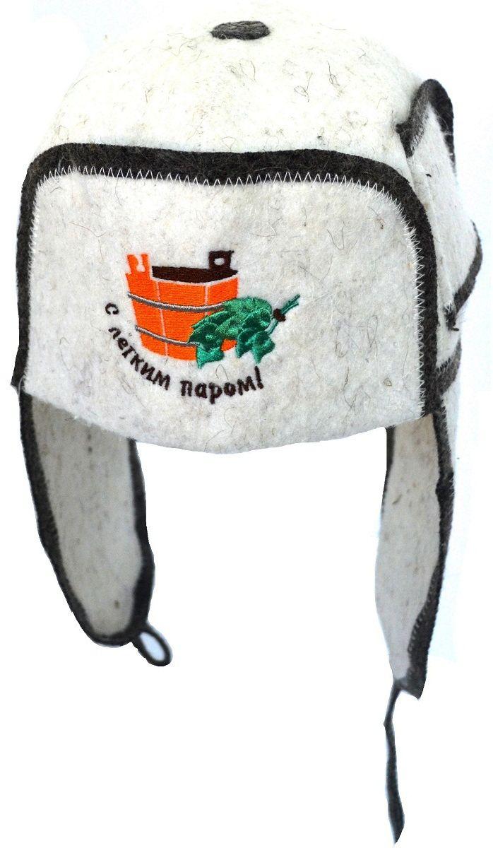 Шапка-ушанка для бани и сауны Ecology Sauna С легким паром giftman шапка для бани с легким паром фетр