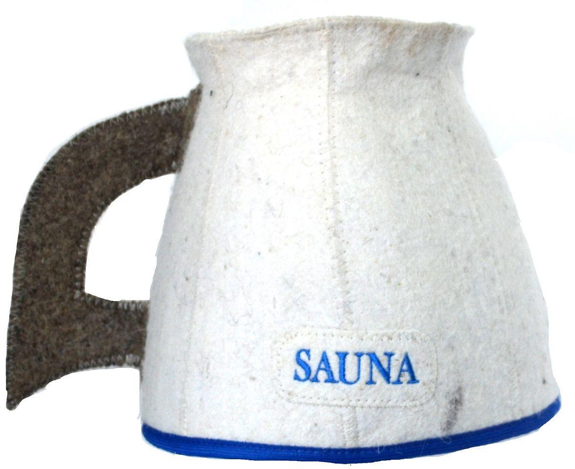 """Шапка для бани и сауны Ecology Sauna """"Кружка"""", цвет: белый, серый, синий"""