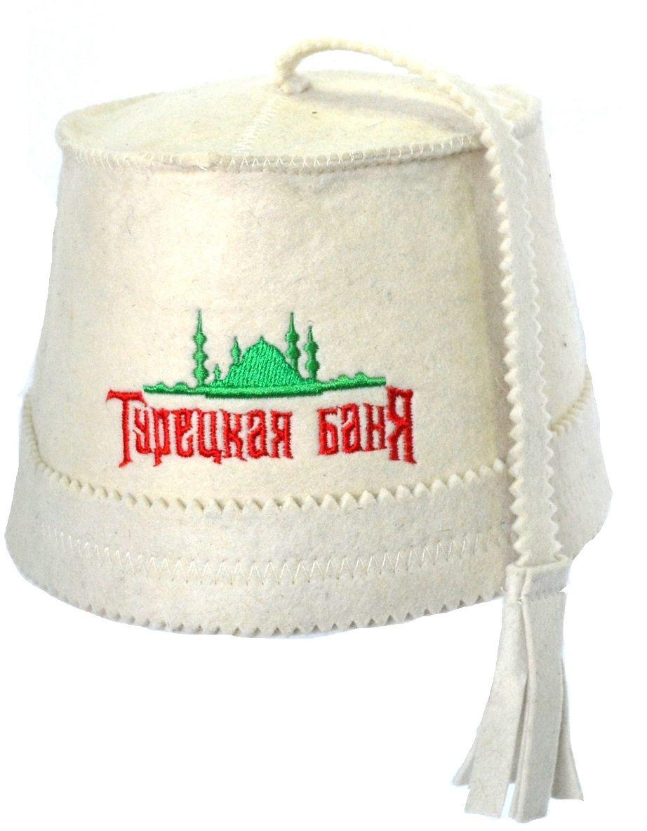 Шапка для бани и сауны Ecology Sauna Феска с вышивкойДЮН-Кфв146Необходимый предмет в бане и сауне. Изготовлен из овечий шерсти. Защищает голову от перегрева и ожогов. Прекрасно впитывает влагу и пот. Сделает Ваше посещение парилки комфортным и безопасным. Колпак для сауны не только предохраняет от вредного воздействия, но и является модным аксессуаром. Может быть отличным подарком к празднику .
