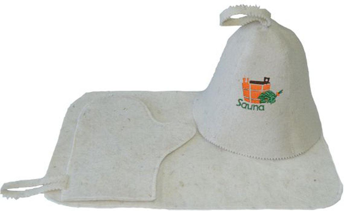 Набор для бани и сауны Ecology Sauna Сауна, 3 предметаДЮН-Н131саНабор включает в себя всё необходимое для посещения сауны. Колпак впитывает пот и защищает голову от перегрева. Коврик защищает от ожогов и бактерий. Рукавица позволяет держать в руке веник и другие горячие предметы Все предметы комплекта изготовлены из овечий шерсти.
