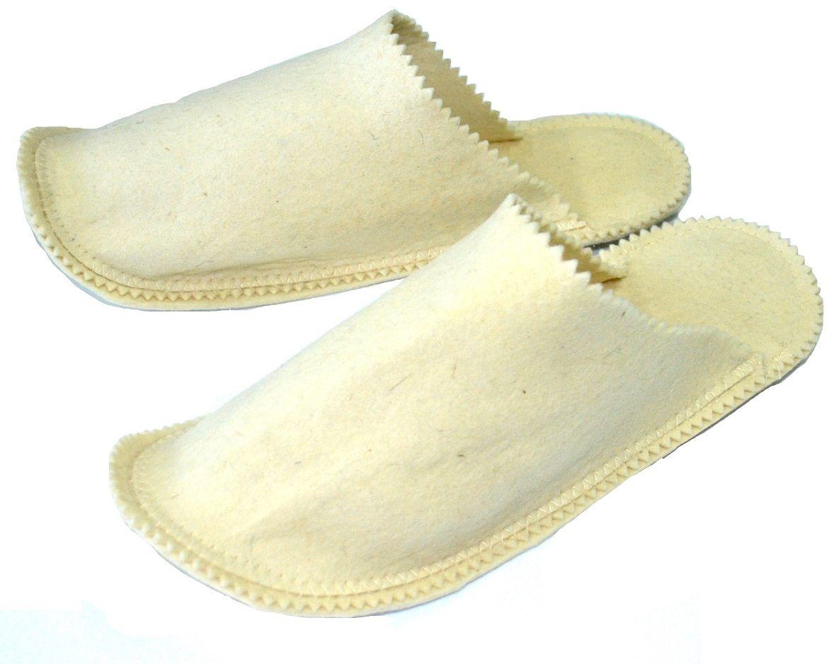 """Мужские тапки  Ecology Sauna """"Классические"""" - необходимый аксессуар для посещения бани и сауны. Изготовлены из натуральной шерсти. Обеспечивают тепло, обладают легким массажным эффектом, уменьшают потливость ног.Также могут использоваться как домашние тапочки."""
