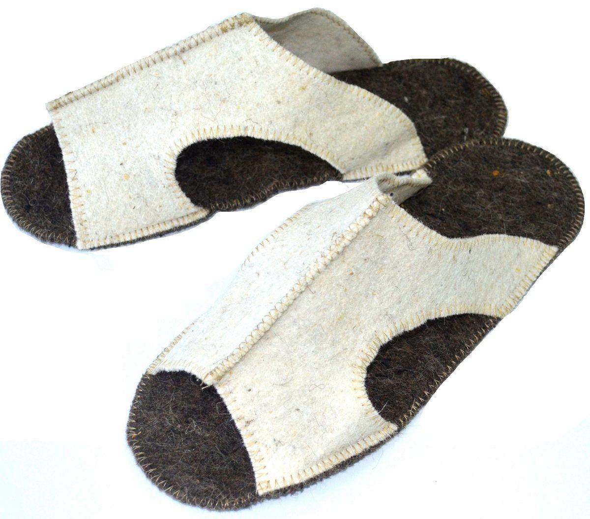 Тапочки для сауны мужские Ecology Sauna СандалииДЮН-ТМ139Необходимый аксессуар для посещения бани и сауны. Изготовлены из натуральной шерсти. Обеспечивают тепло, обладают легким массажным эффектом, уменьшают потливость ног.Также могут использоваться как домашние тапочки.