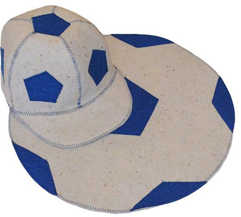 Набор для бани и сауны Ecology Sauna  Футбол , 2 предмета, цвет: белый, синий -  Баня, сауна