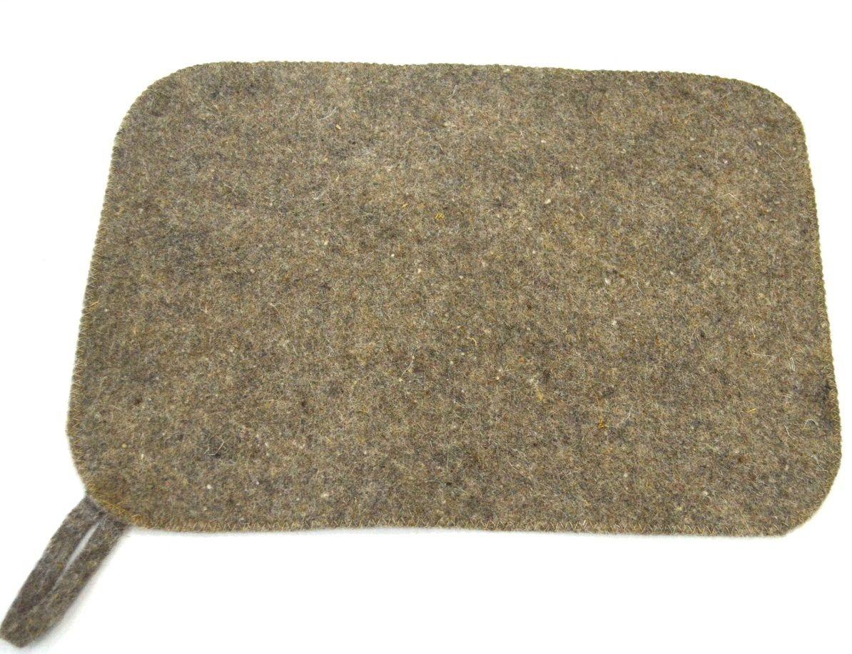 Коврик для бани и сауны Ecology Sauna Эконом, цвет: серыйДЮН-ЭК002Изготовлен из овечий шерсти. Используется для безопасности в парилке. Защищает тело от ожогов и бактерий. Приятный на ощупь, не вызывает раздражения кожи. Обладает гипо аллергенным свойством.. Изделие из войлока отличается долговечностью и сохраняет свой внешний вид в течении длительного времени.