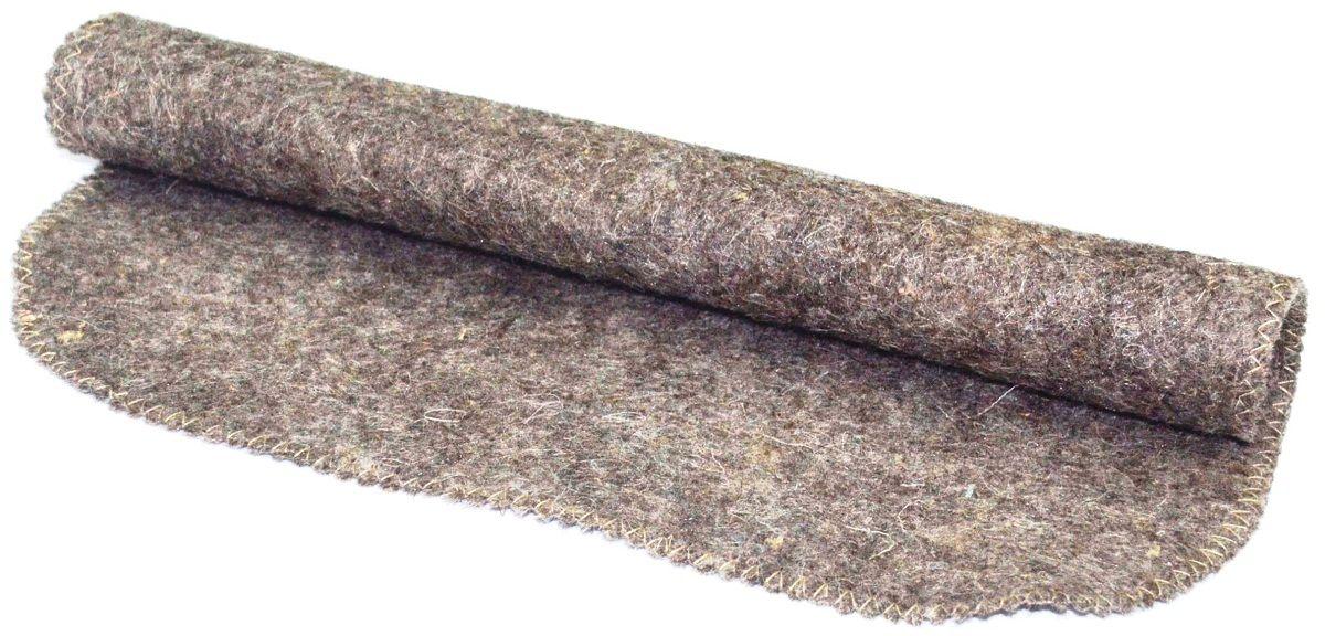 Коврик-лежак для бани и сауны Ecology Sauna Эконом, цвет: серый