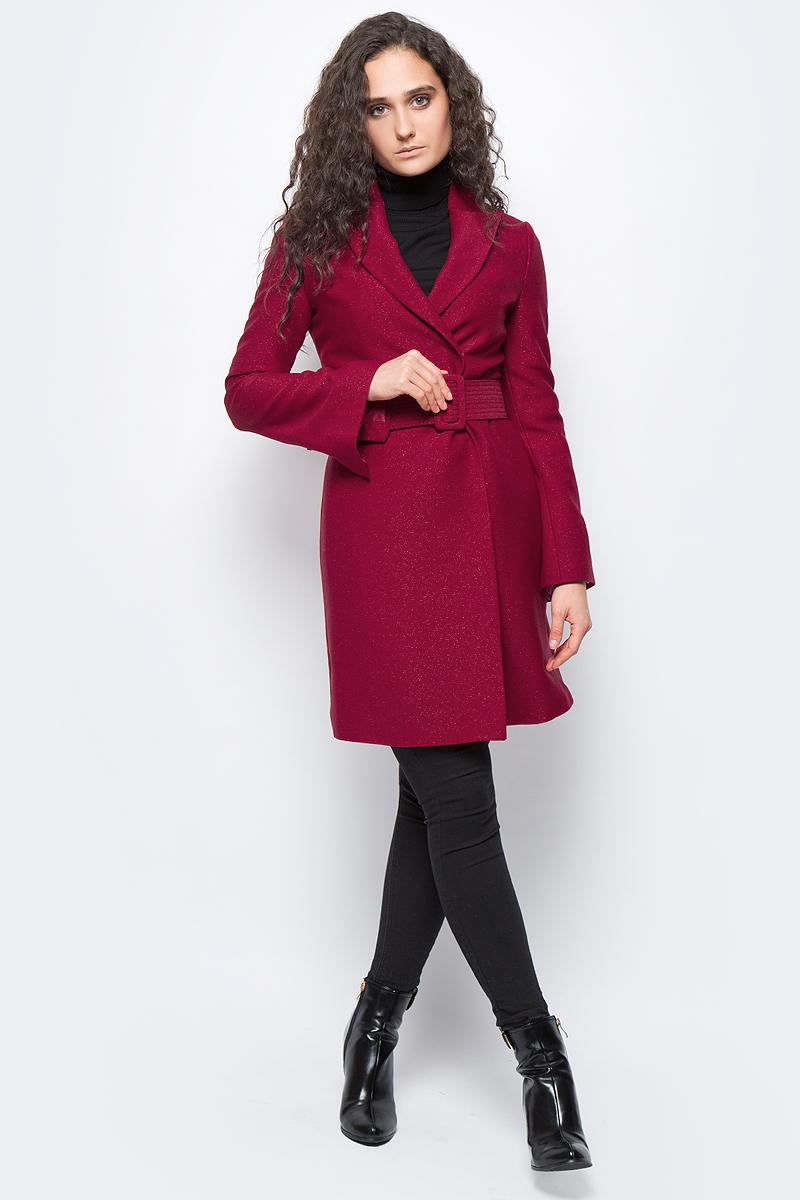 Купить Пальто женское adL, цвет: красный. 12433098000_006. Размер XS (40/42)