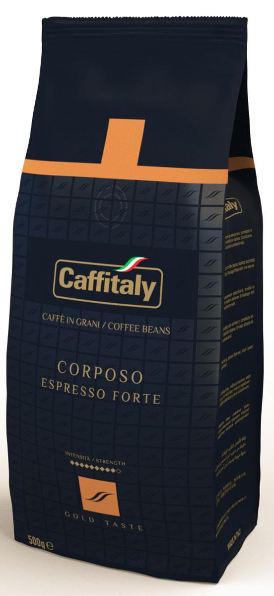 Caffitaly Ecaffe Corposo кофе в зернах, 500 г кофе caffitaly кофе в капсулах mesico