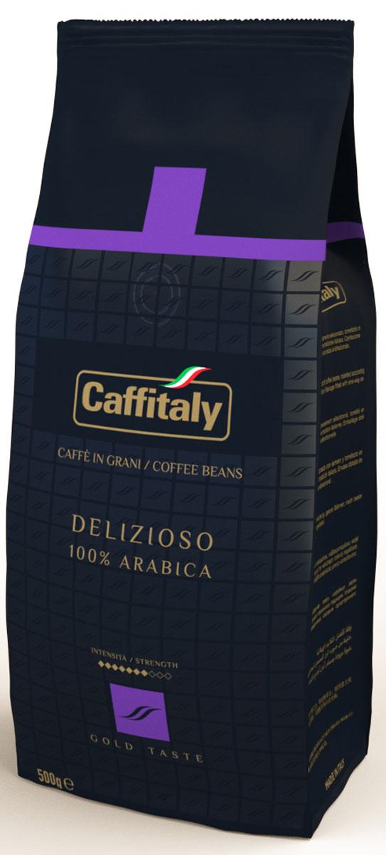 Caffitaly Ecaffe Delizioso кофе в зернах, 500 г кофе ecaffe caffitaly кофе в капсулах intenso