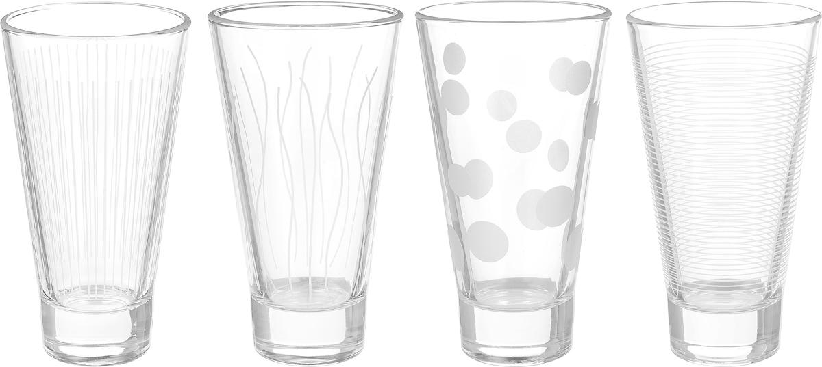 Набор стаканов ОСЗ Лаунж Клаб, 350 мл, 4 штN5283Набор ОСЗ Лаунж Клаб состоит из четырех стаканов, выполненных из высококачественного стекла с оригинальным дизайном.Стаканы предназначены для подачи воды, сока и других напитков. Они излучают приятный блеск и издают мелодичный звон.Такой набор прекрасно оформит праздничный стол и создаст приятную атмосферу за романтическим ужином. Можно мыть в посудомоечной машине.