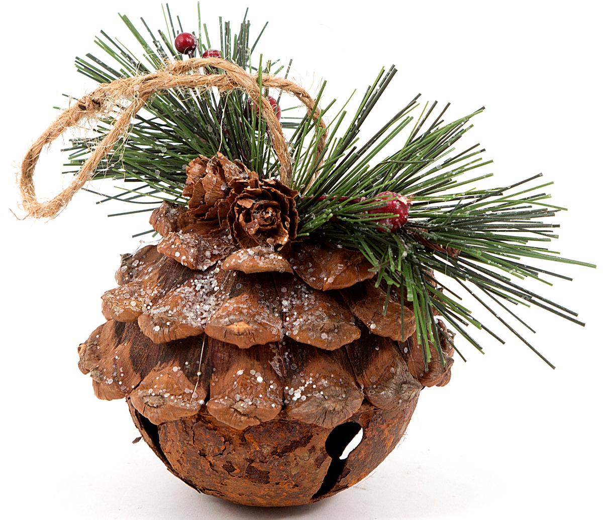 Игрушка ёлочная Шишка 8*8*9 см . 170693170693Елочная игрушка, символ приближающегося праздника. Она послужит прекрасным подарком как для ребенка , так и для взрослого, а так же дополнит новогодний интерьер.