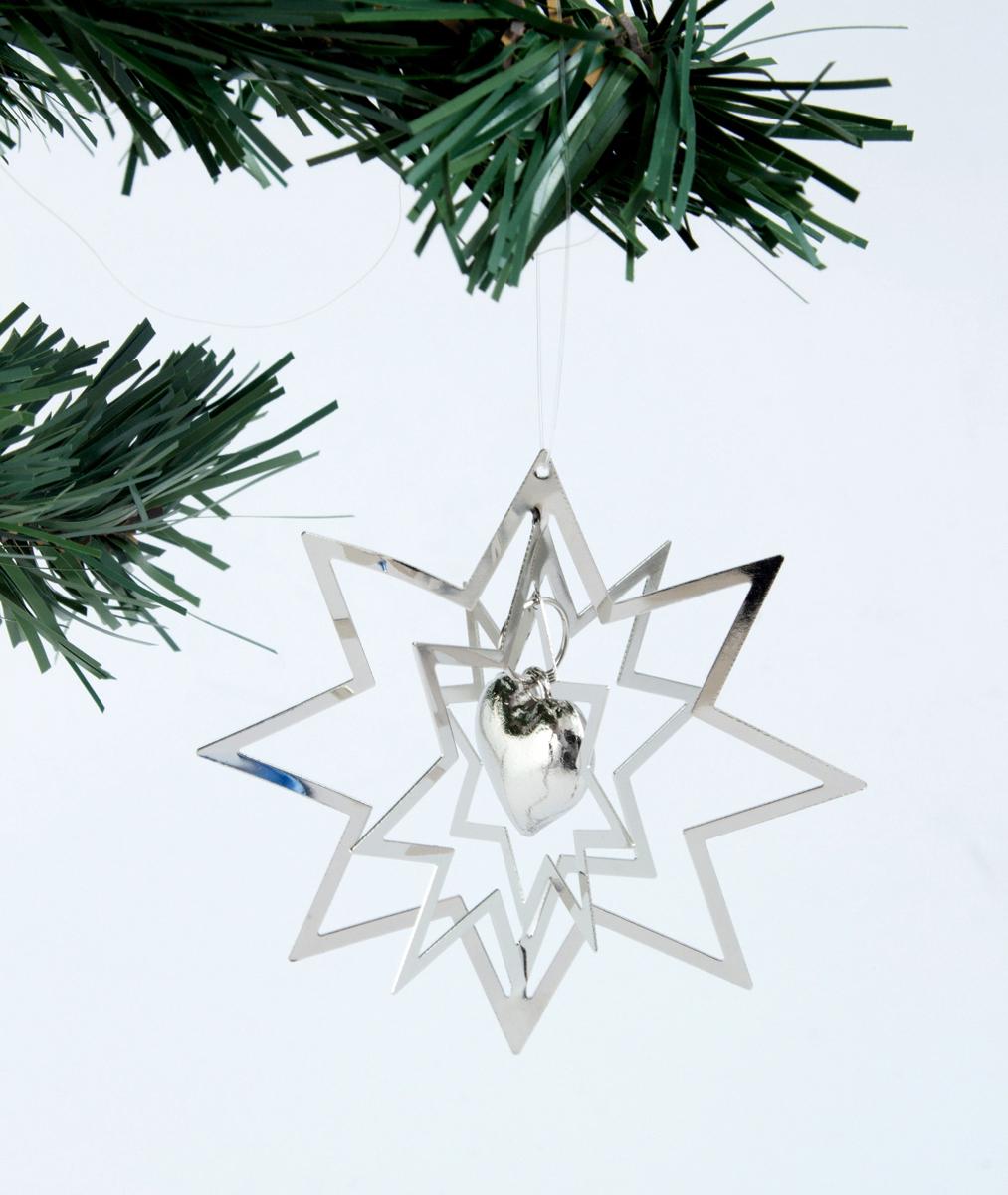 Украшение новогоднее елочное Сердечко, диаметр 8 см. 171130171130Елочная игрушка - символ приближающегося праздника. Она послужит прекрасным подарком как для ребенка, так и для взрослого, а также дополнит новогодний интерьер.