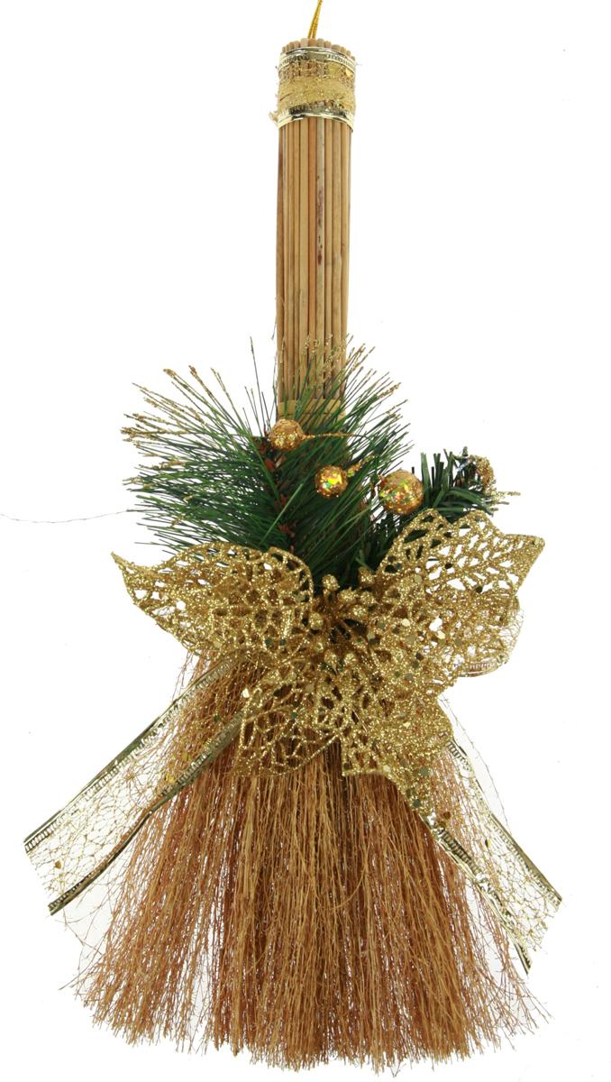 Новогоднее декоративное украшение Новогодний веник, длина 36 см. 7052570525В преддверии праздника принято украшать интерьер. Готовое украшение Новогодний веник прекрасно справиться с этой задачей, создаст атмосферу праздника и настроения.