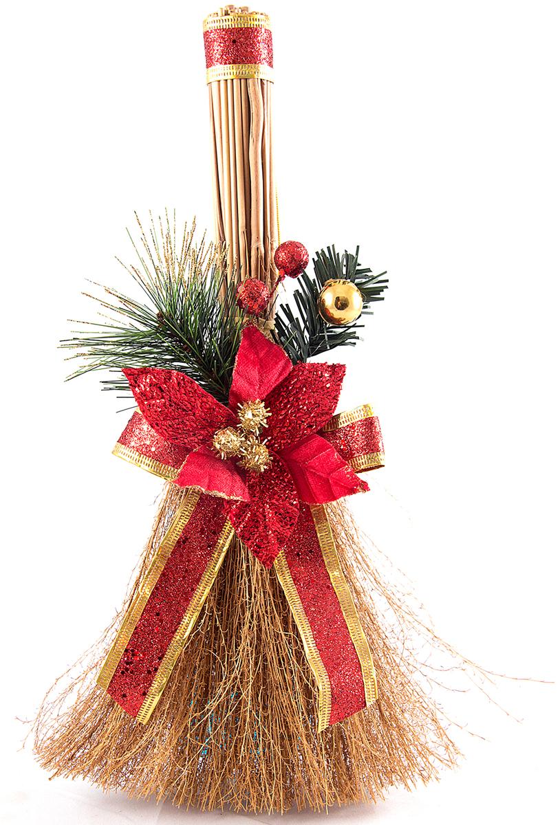 Новогоднее декоративное украшение Новогодний веник, длина 36 см. 7055370553В преддверии праздника принято украшать интерьер. Готовое украшение Новогодний веник прекрасно справиться с этой задачей, создаст атмосферу праздника и настроения.