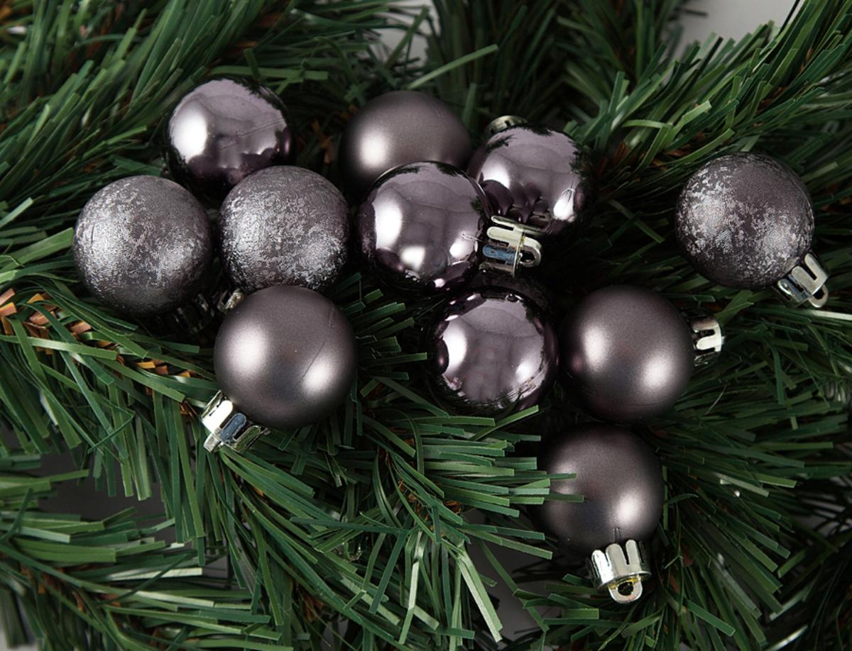 Набор ёлочных игрушек Шары из 12 шт, 30 мм темное серебро . 7106271062Елочная игрушка, символ приближающегося праздника. Она послужит прекрасным подарком как для ребенка , так и для взрослого, а так же дополнит новогодний интерьер.