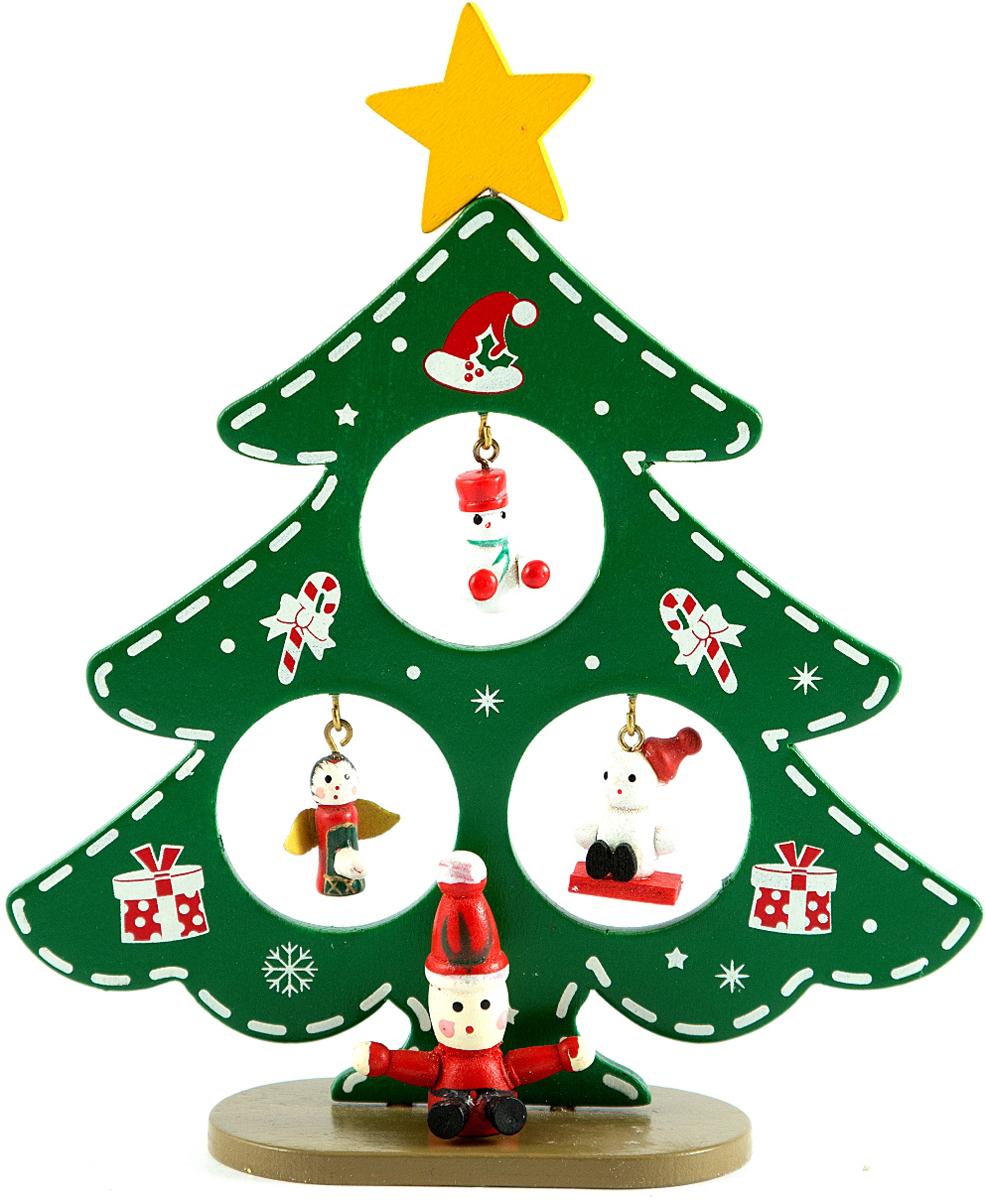 Декоративное украшение Рождественская елочка, 17 см. 7281472814В преддверии праздника принято украшать интерьер. Готовое украшение прекрасно справиться с этой задачей, создаст атмосферу праздника и настроения.