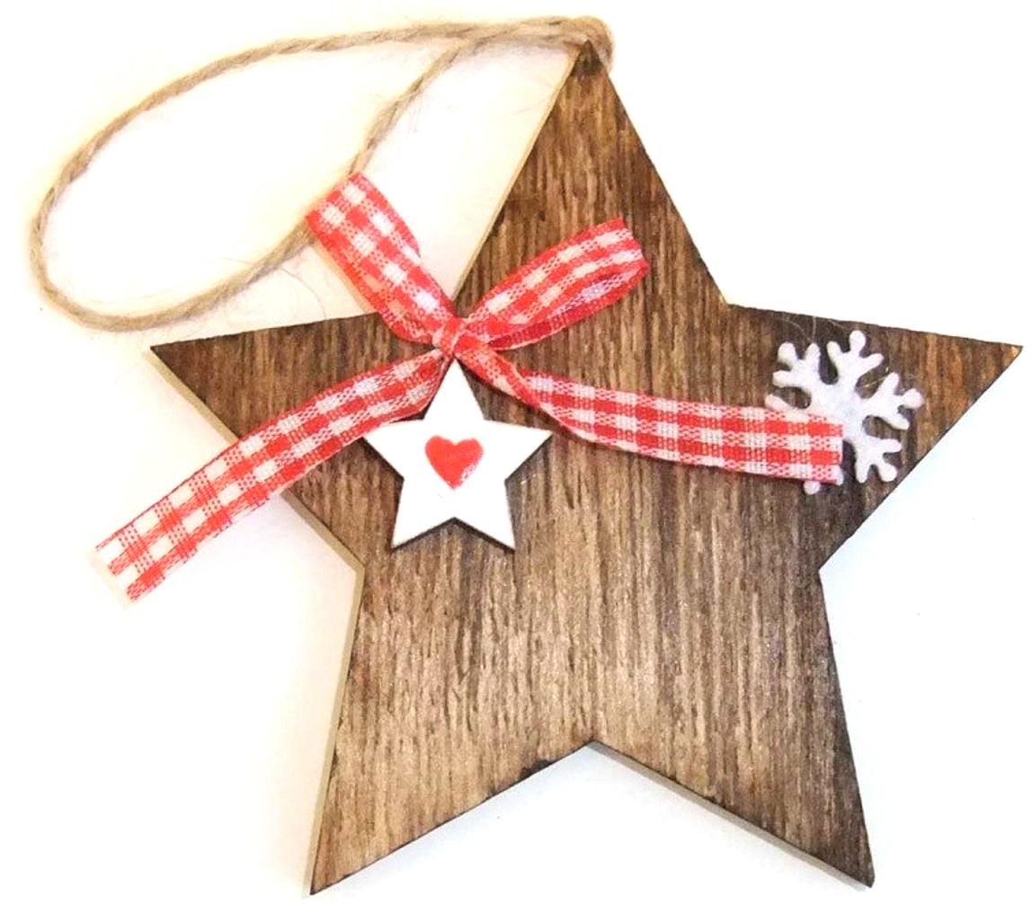 Украшение декоративное Звездочка 10*10*1 см. 7289372893Елочная игрушка, символ приближающегося праздника. Она послужит прекрасным подарком как для рубенка , так и для взрослого, а так же дополнит новогодний интерьер.