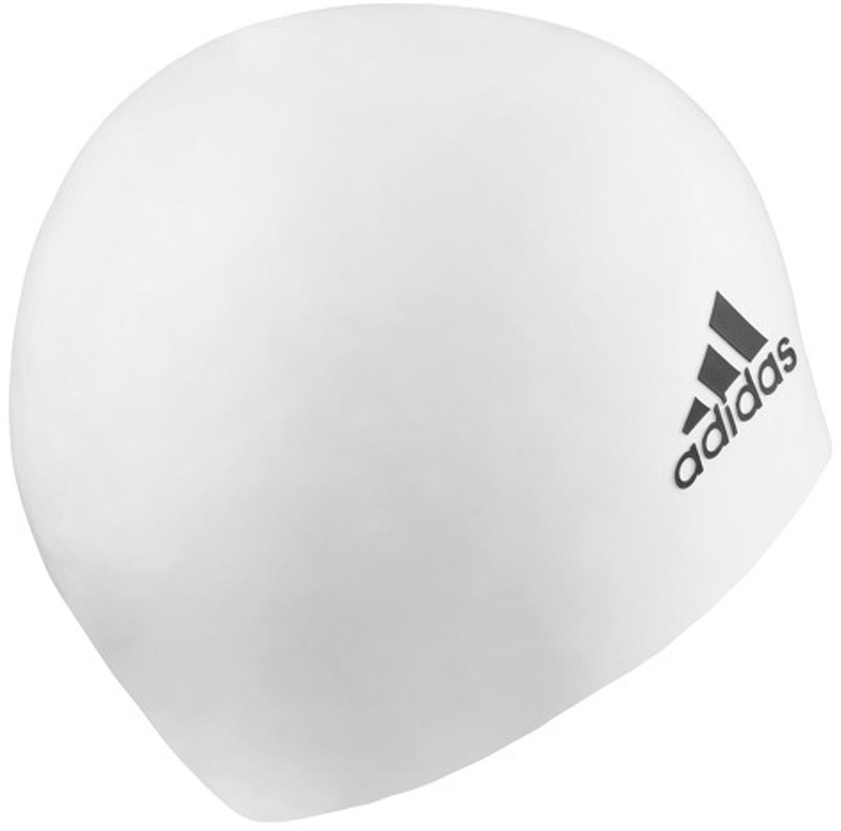 Шапочка для плавания Adidas Sil CP Logo 1PС, цвет: белый. 802315802315Лаконичная силиконовая шапочка Adidas Sil CP Logo 1PС предназначена для профессиональных пловцов. Она плотно облегает голову, сохраняя волосы сухими в течение всей тренировки. Прочная и устойчивая к разрыву. Шапочка украшена рельефным логотипомadidas. Размер: универсальный.