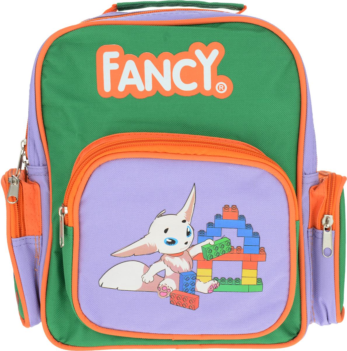 Action! Рюкзак дошкольный цвет зеленый сиреневыйAKB0002/1Дошкольный рюкзак Action! - это удобный, легкий и компактный аксессуар для вашего малыша, который обязательно пригодится для прогулок и детского сада.В его внутреннее отделение на застежке-молнии можно положить игрушки, предметы для творчества или книжку формата А5. По бокам рюкзак оснащен двумя карманами на молниях.Благодаря регулируемым лямкам, рюкзачок подходит детям любого роста. Удобная ручка помогает носить аксессуар в руке или размещать на вешалке.Аксессуар декорирован изображением.