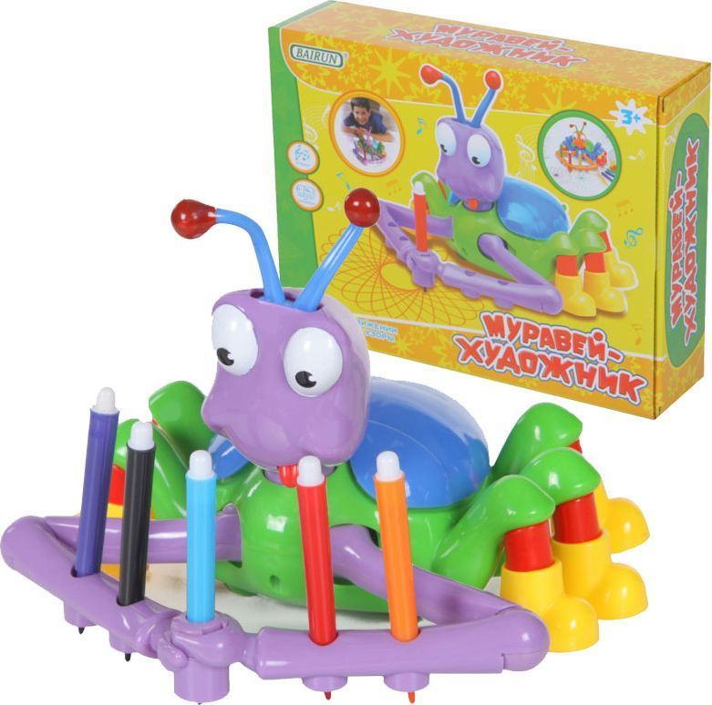 Bairun Развивающая игрушка Муравей-художник игрушка bairun корабль y13436001