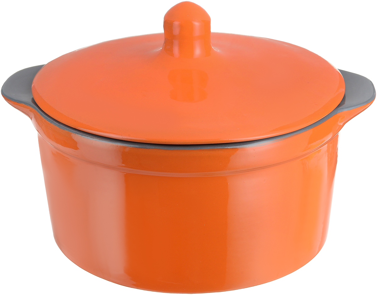 """Кастрюля Борисовская керамика """"Радуга"""" выполнена из высококачественной термостойкой  керамики. Покрытие абсолютно безопасно для здоровья, не содержит вредных веществ.  Керамика предотвращает прилипание пищи и обеспечивает превосходные результаты.  Посуда имеет элегантный корпус и привлекательный внешний вид.  Кастрюля оснащена  удобными боковыми ручками и керамической крышкой. Она плотно прилегает к краям  посуды, сохраняя аромат блюд."""