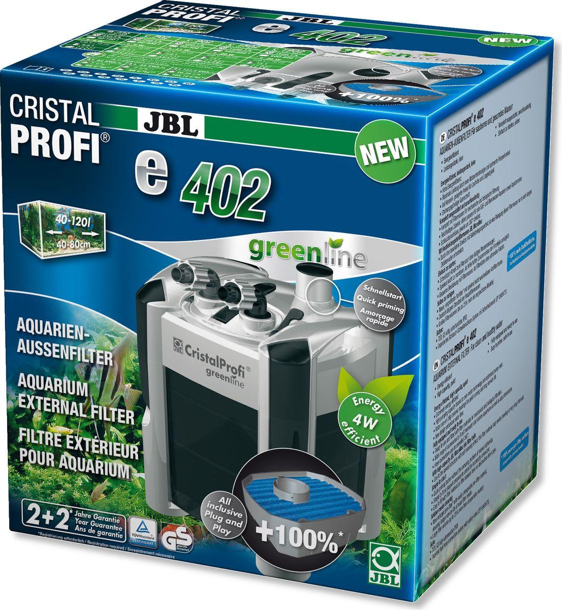 Фильтр внешний JBL CristalProfi e402 greenline +, для аквариумов объемом 40-120 л грунтовый термокабель jbl protemp b60 с трансформатором для аквариумов более 150см 60вт