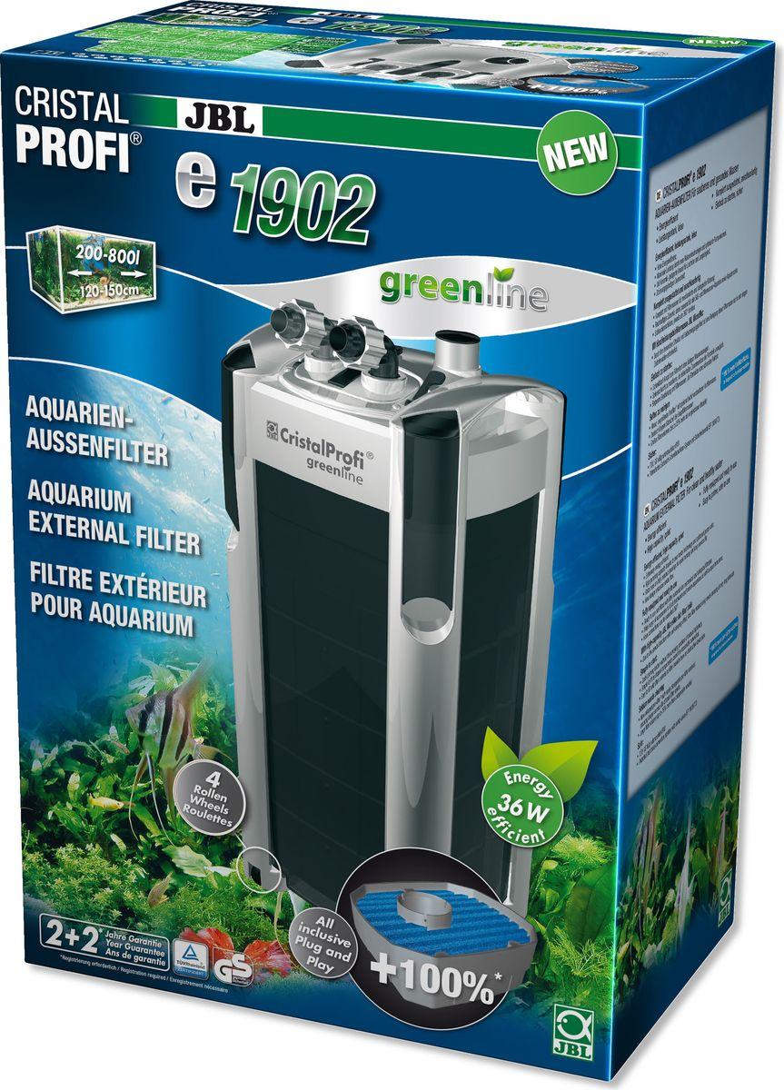 Фильтр внешний JBL CristalProfi e1902 greenline +, для аквариумов объемом 200-800 лJBL6028400JBL CristalProfi e1902 greenline + - Внешний фильтр для аквариумов объемом 200-800 л