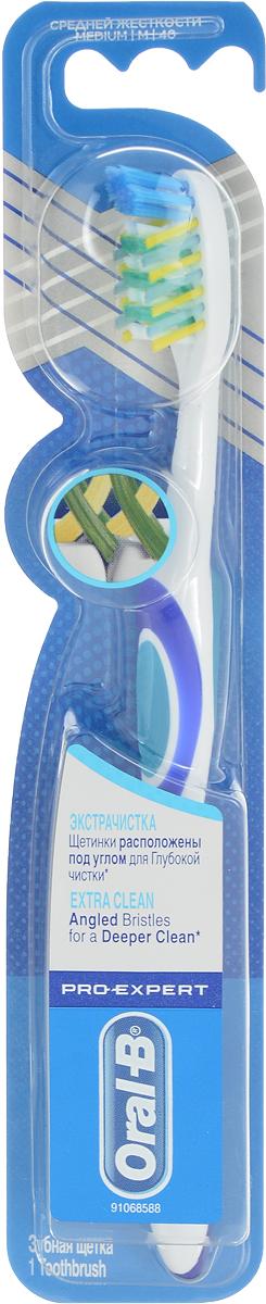 Oral-B Зубная щетка Pro-Expert. Экстра-чистка, средняя жесткость, цвет: бирюзовый75068339_бирюзовыйЗубная щетка Oral-B Pro-Expert. Экстра-чистка создана специально для качественного удаления налета. Многосекционные щетинки Power Tip бережно относятся к эмали и помогают чистить труднодоступные места с высоким риском отложения налета. Голубые щетинки Indicator обесцвечиваются, сигнализируя о степени износа и эффективности щетки. Расположенные под углом щетинки Criss Cross оптимизируют чистку межзубных пространств. Эргономичная, нескользящая рукоятка обеспечивает комфортное и безопасное использование. Щетка обладает исключительной маневренностью для еще более комфортной чистки. Удаляет больше налета по сравнению с щетками с обычным плоским обрезом щетинок. Товар сертифицирован.