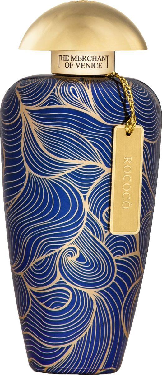 The Merchant of Venice Rococo Концентрированные духи, 100 мл481111Rococo (фр. «рококо») Рококо — стиль в искусстве, возникший во Франции в первой половине XVIII века как развитие стиля барокко. Характерными чертами рококо являются изысканность, декоративная нагруженность интерьеров и композиций художественными завитками, грациозный орнаментальный ритм.Пышное богемное звучание Rococo отражает гармонию противоположностей. Дерзкий контраст душистых проникновенных нот ладана и ярких нежных созвучий бобов тонка. Грациозный и богатый обертон какао доминирует в структуре аромата, обнажая его слегка пудровый характер с терпкостью жасмина и пронизывающей цитрусовой свежестью бергамота. Пикантный и кокетливый аромат, от которого сложно оторваться.Топ: ладан, бергамот. Сердце: гелиотроп, гвоздика, жасмин. База: какао, бензоин.Краткий гид по парфюмерии: виды, ноты, ароматы, советы по выбору. Статья OZON Гид