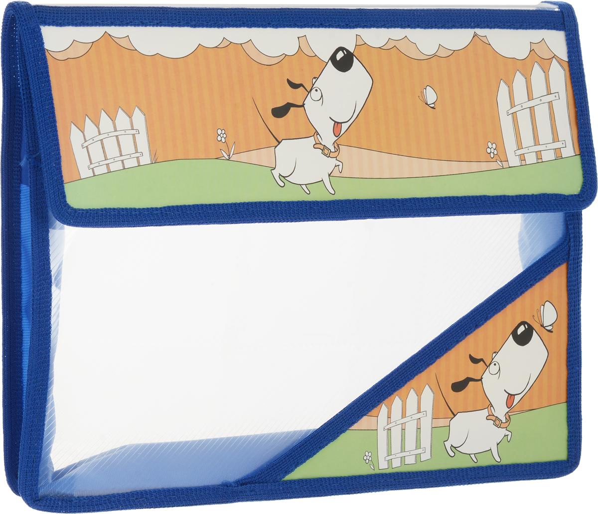 Action! Папка для тетрадей Милашки цвет синий прозрачный принадлежности для рисования action папка для акварели