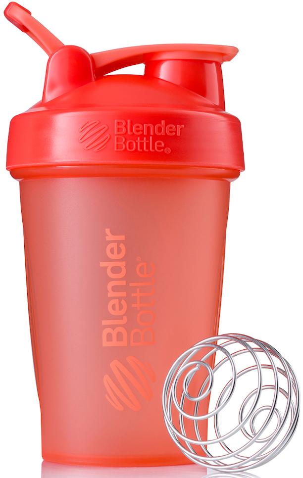 Шейкер спортивный BlenderBottle Classic Full Color, цвет: коралловый, 591 млBB-CL20-FCORШейкер Classiсот компанииBlender Bottle- многофункциональный, удобный шейкер, который произвел революцию на рынке благодаря своим лидирующим качествам, а именно: 100% герметичности, концептуальному дизайну, максимальной смешиваемости ингредиентов и запатентованным опциям BlenderBall и StayOpen.Шарик-венчик BlenderBall- венчик из 316-хирургической нержавеющей стали, который не подвержен коррозии, легко моется и обеспечивает максимальную смешиваемость любых ингредиентов. ТехнологияStayOpen- инновационная функция шейкера, которая не позволяет крышке закрываться во время питья, что зачастую приносит неудобство и дискомфорт.Качественные материалы не содержат бисфенол (BPA, BPS и другие) и фталаты, благодаря чему шейкер абсолютно безопасен для здоровья. Шейкер герметично закрывается и не допускает протекания при переноске в сумке. Шейкер BlenderBottle Classic идеально подходит как для приготовления любых спортивных и фитнес коктейлей (протеинов, гейнеров, изотоников), так и разнообразных блюд дома.Особенности:- 100% герметичная конструкция- С круглым BlenderBall венчиком внутри- Маркирован тиснением на пластике в миллилитрах и унциях- Широкое горло позволяет легко добавлять ингредиенты- Крышка с резьбой - попадание в резьбу с первого раза- Система StayOpen flip cap - крышка не бьет по носу!- GripperBars - специальные ребра на бутылке, не выскальзывает из рук- Удобный широкий носик - приятно пить.- Можно мыть в посудомоечной машине- Подходит для большинства автомобильных подстаканников- Не содержит бисфенол и фталаты - лучший пластик, как у дорогих детских бутылочек- Защищен патентами США.Простой. Мощный.Самый продаваемый шейкер в мире.Как повысить эффективность тренировок с помощью спортивного питания? Статья OZON Гид