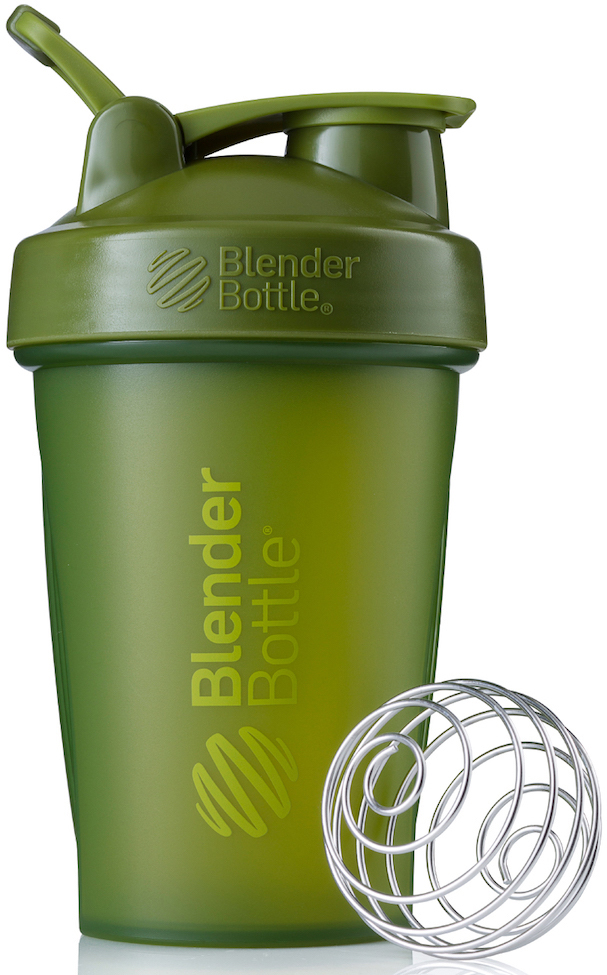 Шейкер спортивный BlenderBottle Classic Full Color, цвет: оливковый, 591 млBB-CL20-FMGRПростой. Мощный.Самый продаваемый шейкер в Мире.Classiсот компанииBlender Bottle- многофункциональный, удобный шейкер, который произвел революцию на рынке благодаря своим лидирующим качествам, а именно: 100% герметичности, концептуальному дизайну, максимальной смешиваемости ингредиентов и запатентованным опциям BlenderBall и StayOpen.Шарик-венчик BlenderBall- венчик из 316-хирургической нержавеющей стали, который не подвержен коррозии, легко моется и обеспечивает максимальную смешиваемость любых ингредиентов. ТехнологияStayOpen- инновационная функция шейкера, которая не позволяет крышке закрываться во время питья, что зачастую приносит неудобство и дискомфорт.Качественные материалы не содержат бисфенол (BPA, BPS и другие) и фталаты, благодаря чему шейкер абсолютно безопасен для здоровья. Шейкер герметично закрывается и не допускает протекания при переноске в сумке. Шейкер BlenderBottle Classic идеально подходит как для приготовления любых спортивных и фитнес коктейлей (протеинов, гейнеров, изотоников), так и разнообразных блюд дома.Особенности:- 100% герметичная конструкция- С круглым BlenderBall венчиком внутри- Маркирован тиснением на пластике в миллилитрах и унциях- Широкое горло позволяет легко добавлять ингредиенты- Крышка с резьбой - попадание в резьбу с первого раза- Система StayOpen flip cap - крышка не бьет по носу!- GripperBars - специальные ребра на бутылке, не выскальзывает из рук- Удобный широкий носик - приятно пить.- Можно мыть в посудомоечной машине- Подходит для большинства автомобильных подстаканников- Не содержит бисфенол и фталаты - лучший пластик, как у дорогих детских бутылочек- Защищен патентами США
