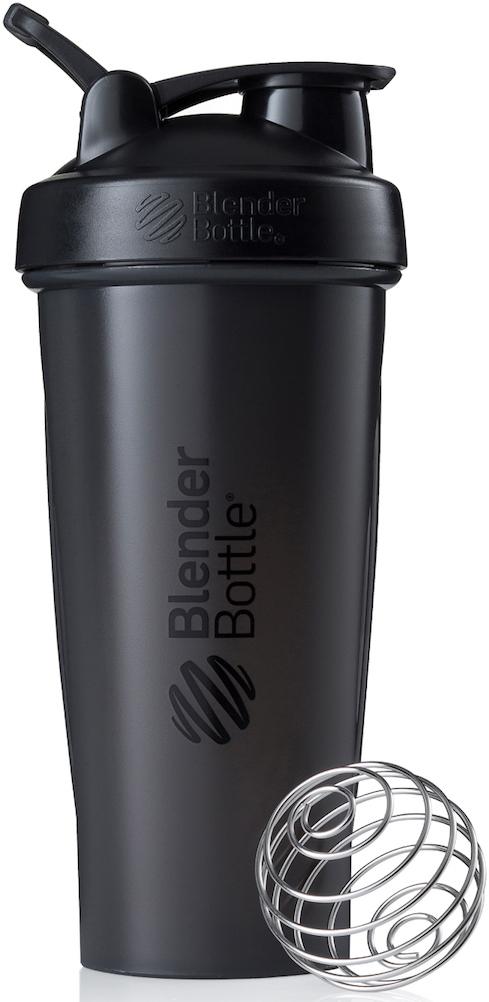 Шейкер спортивный BlenderBottle Classic Full Color, цвет: черный, 828 млBB-CL28-FBLKПростой. Мощный.Самый продаваемый шейкер в Мире.Classiсот компанииBlender Bottle- многофункциональный, удобный шейкер, который произвел революцию на рынке благодаря своим лидирующим качествам, а именно: 100% герметичности, концептуальному дизайну, максимальной смешиваемости ингредиентов и запатентованным опциям BlenderBall и StayOpen.Шарик-венчик BlenderBall- венчик из 316-хирургической нержавеющей стали, который не подвержен коррозии, легко моется и обеспечивает максимальную смешиваемость любых ингредиентов. ТехнологияStayOpen- инновационная функция шейкера, которая не позволяет крышке закрываться во время питья, что зачастую приносит неудобство и дискомфорт.Качественные материалы не содержат бисфенол (BPA, BPS и другие) и фталаты, благодаря чему шейкер абсолютно безопасен для здоровья. Шейкер герметично закрывается и не допускает протекания при переноске в сумке. Шейкер BlenderBottle Classic идеально подходит как для приготовления любых спортивных и фитнес коктейлей (протеинов, гейнеров, изотоников), так и разнообразных блюд дома.Особенности:- 100% герметичная конструкция- С круглым BlenderBall венчиком внутри- Маркирован тиснением на пластике в миллилитрах и унциях- Широкое горло позволяет легко добавлять ингредиенты- Крышка с резьбой - попадание в резьбу с первого раза- Система StayOpen flip cap - крышка не бьет по носу!- GripperBars - специальные ребра на бутылке, не выскальзывает из рук- Удобный широкий носик - приятно пить.- Можно мыть в посудомоечной машине- Подходит для большинства автомобильных подстаканников- Не содержит бисфенол и фталаты - лучший пластик, как у дорогих детских бутылочек- Защищен патентами СШАКак повысить эффективность тренировок с помощью спортивного питания? Статья OZON Гид