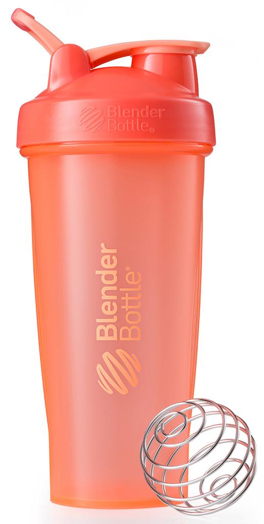 Шейкер спортивный BlenderBottle Classic Full Color, цвет: коралловый, 828 млBB-CL28-FCORШейкер Classiсот компанииBlender Bottle- многофункциональный, удобный шейкер, который произвел революцию на рынке благодаря своим лидирующим качествам, а именно: 100% герметичности, концептуальному дизайну, максимальной смешиваемости ингредиентов и запатентованным опциям BlenderBall и StayOpen.Шарик-венчик BlenderBall- венчик из 316-хирургической нержавеющей стали, который не подвержен коррозии, легко моется и обеспечивает максимальную смешиваемость любых ингредиентов. ТехнологияStayOpen- инновационная функция шейкера, которая не позволяет крышке закрываться во время питья, что зачастую приносит неудобство и дискомфорт.Качественные материалы не содержат бисфенол (BPA, BPS и другие) и фталаты, благодаря чему шейкер абсолютно безопасен для здоровья. Шейкер герметично закрывается и не допускает протекания при переноске в сумке. Шейкер BlenderBottle Classic идеально подходит как для приготовления любых спортивных и фитнес коктейлей (протеинов, гейнеров, изотоников), так и разнообразных блюд дома.Особенности:- 100% герметичная конструкция- С круглым BlenderBall венчиком внутри- Маркирован тиснением на пластике в миллилитрах и унциях- Широкое горло позволяет легко добавлять ингредиенты- Крышка с резьбой - попадание в резьбу с первого раза- Система StayOpen flip cap - крышка не бьет по носу!- GripperBars - специальные ребра на бутылке, не выскальзывает из рук- Удобный широкий носик - приятно пить.- Можно мыть в посудомоечной машине- Подходит для большинства автомобильных подстаканников- Не содержит бисфенол и фталаты - лучший пластик, как у дорогих детских бутылочек- Защищен патентами США.Простой. Мощный.Самый продаваемый шейкер в мире.Как повысить эффективность тренировок с помощью спортивного питания? Статья OZON Гид